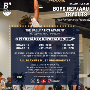 BallMatics Elite 2021-2022 High School Basketball Tryouts